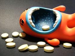 Antidepressivi ingurgitati all'eccesso